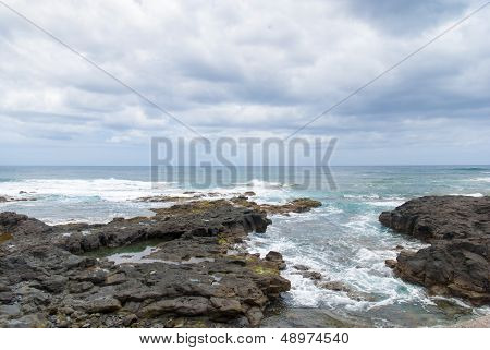 Coast of punta del Hidalgo. Tenerife. Spain