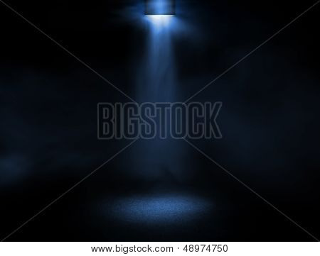 Light Beam At The Stage