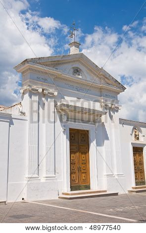 Church of SS. Maria della Luce. Mattinata. Puglia. Italy.