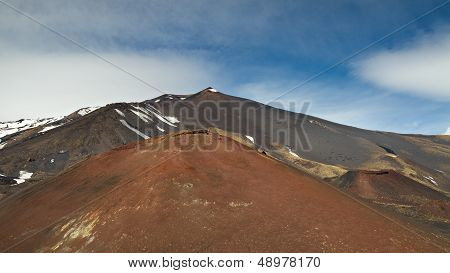 Peak Of The Etna Volcano