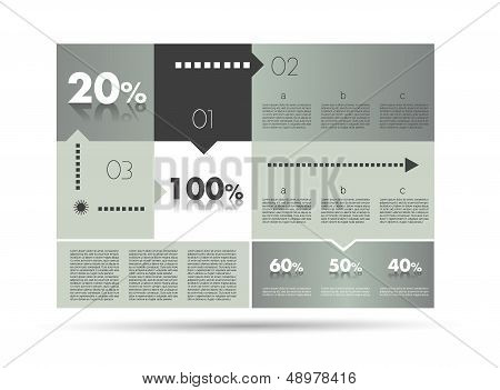 Modern box diagram for infographics. Vector module chart.