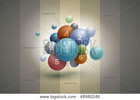 Vector abstract sphere infographics design template. Elements are layered separately in vector file.
