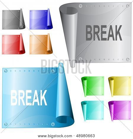 Break. Metal surface. Raster illustration. Vector version is in my portfolio.