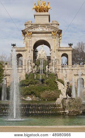 Fountain In Parc De La Ciutadella, Barcelona
