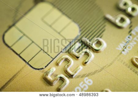 Low Key Macro Shot With Old Credit Card.