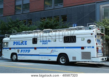 NYPD Command Post in the World Trade Center area of  Manhattan
