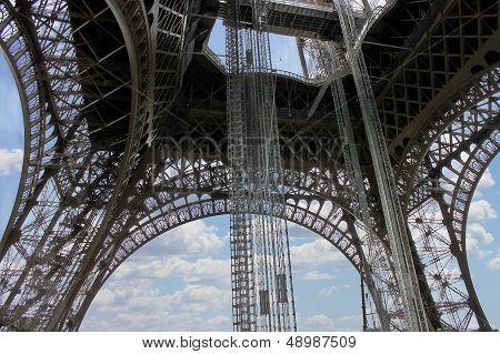The Openwork Interweaving Eiffel Tower. Paris. France