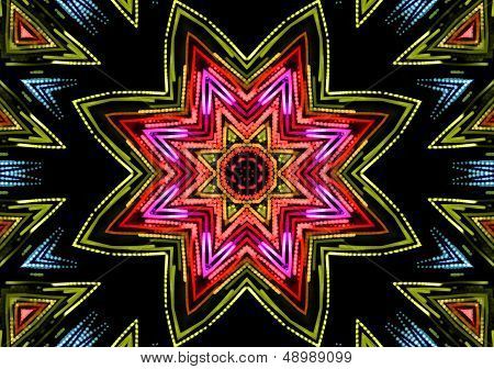 Abstract Color Pattern On Black