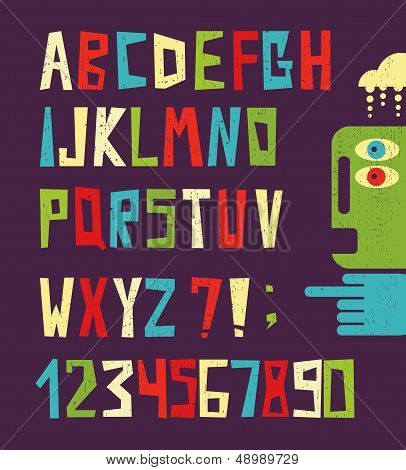 Funny alphabet letters with numbers.