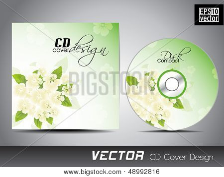 CD Cover with floral design for your business.