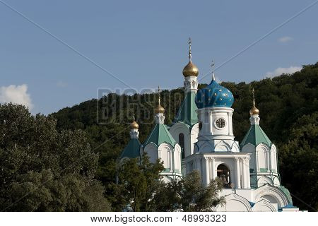 Church Of The Intercession In Sviatogorsk