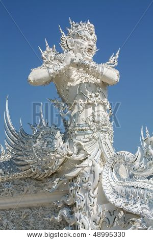 Angel Of Death Statue In Wat Rong Khun, Chiang Rai Province, Northern Thailand