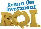 Solid gold pay back ROI Return On Investment words letters acronym