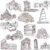 stock photo of babylon  - An hand drawn collection in one big set  - JPG