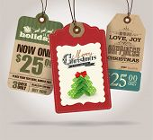 picture of santa sleigh  - Christmas Sale Tags - JPG