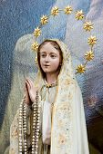 pic of crucifiction  - Wooden statue of Maria in the church of Unter Griesbach in Southern Germany - JPG