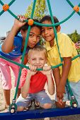 pic of playground  - Three kids at the playground - JPG