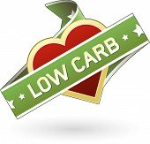 image of food label  - Low carb food label sticker for use on print materials packaging or websites - JPG