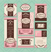 image of valentine card  - Set of wedding cards - JPG