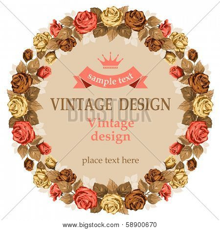 Vintage background with beautiful rose.