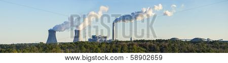 panorama of coal fired powerplant in Jacksonville, Florida