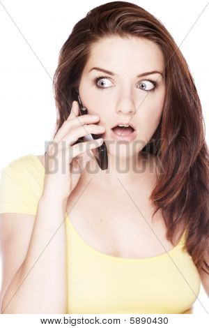 Shocked Woman On The Phone