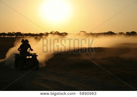 Quad-biking in Desert
