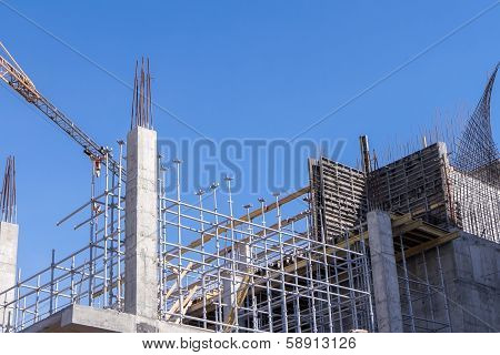 Construction Of Modern Building