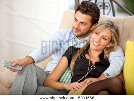 Lovely Young Couple Relaxing