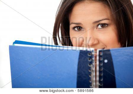 Frau mit einem notebook