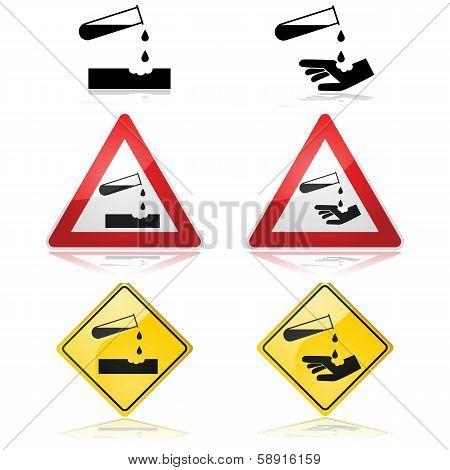 Corrosive Substance Warning