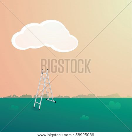 Stepladder under the cloud