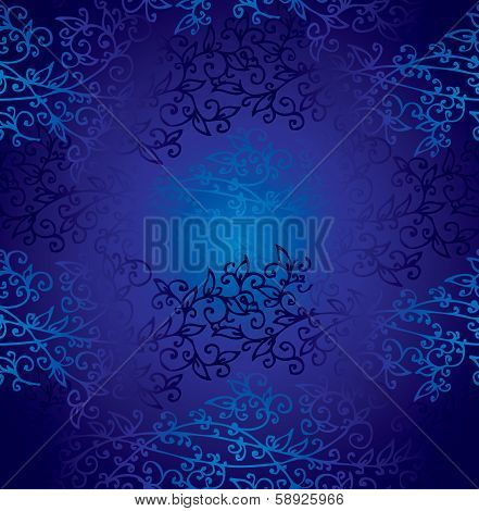 Seamless Dark Blueprint Pattern background