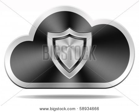 cloud security icon safety and privacy for confidential and private information and data,
