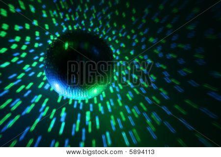 Disco Ball Blue - Green