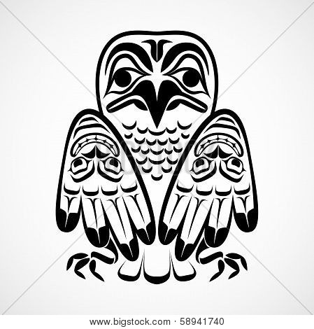 Vector illustration of an eagle.