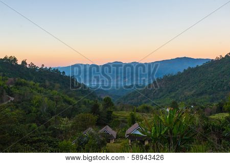 Landscape Depth Of Mountain View At Chiang Dao, Thailand