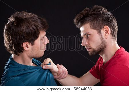 Angry Man Threatening