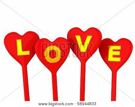 Love hearts, 3d