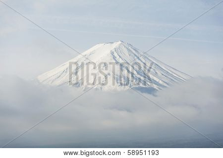 Top of Fuji in Japan