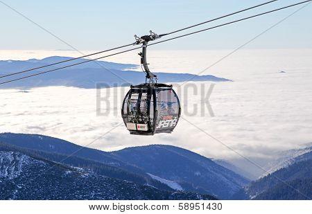 Modern Ropeway At Hill Chopok - Low Tatras, Slovakia