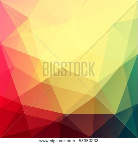 Vibrant triangular background - eps10 vector