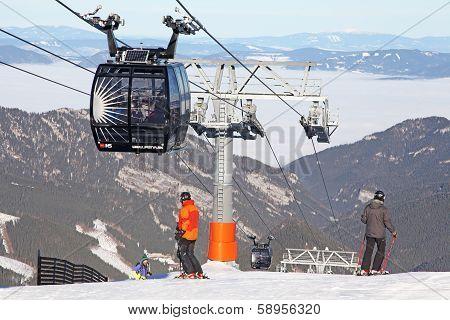 Modern Ropeway Funitel At Hill Chopok - Low Tatras, Slovakia