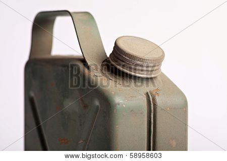 Old And Rusty Military Gasoline Canister