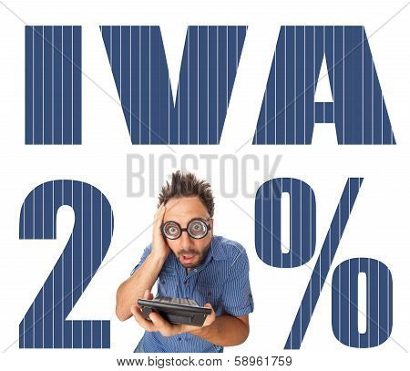 Iva Italian Tax With Shocked Boy