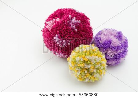 Pom poms, fluffy, decorative ball made from wool