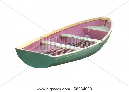the image of oared boat on a  bank