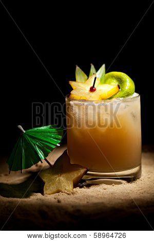 Mai Tai Cocktail - Dark Rum, White Rum, Orange Liquor, Almond Syrup, Lime Juice