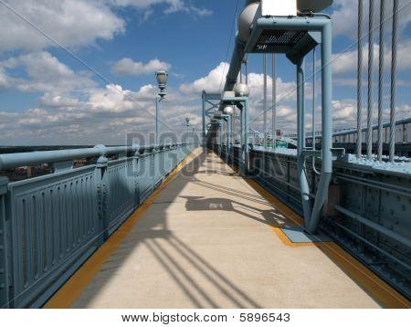 Ben Franklin Bridge Sidewalk