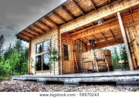 Sauna In Forest